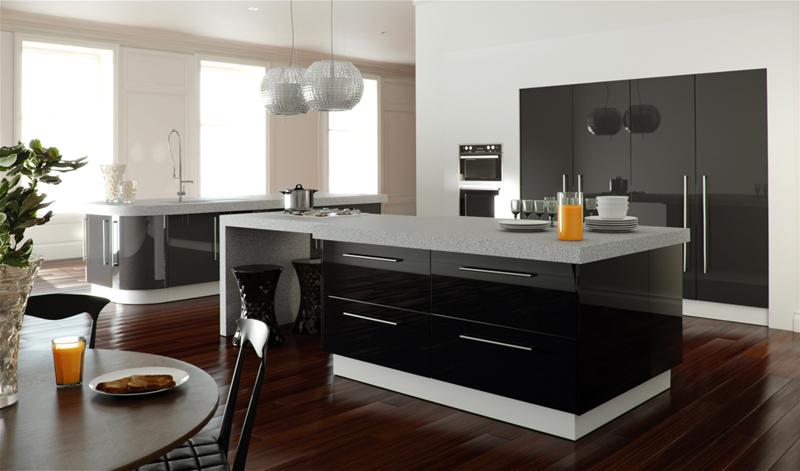 Modern konyhabútorok, minimál konyhák tervezése és gyártása. Magasfényű konyhabútor, akril ...